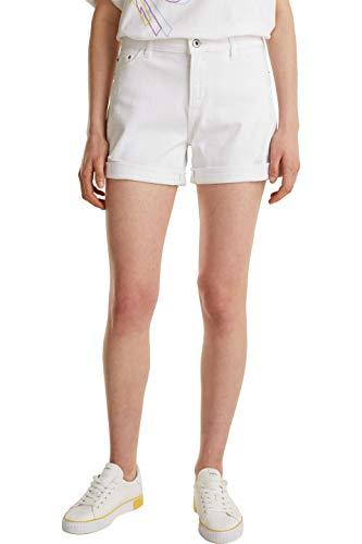 edc by Esprit 030CC1C308 Shorts Damen, Weiß (100/WHITE), 27