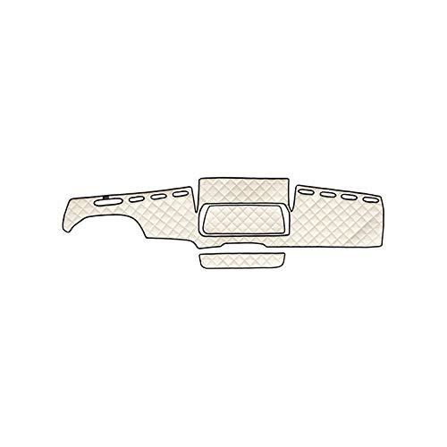 AutoCommerse Armaturenbrett-Abdeckung aus PU-Leder für TGX LHD Trucks, beige