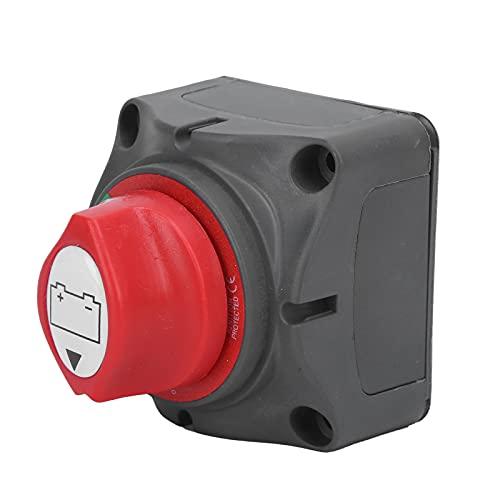 KASD Desconexión de la batería On Off, Interruptor de desconexión de la batería Fácil de operar en Sentido antihorario Posición de 45 Grados Fácil de Instalar para Yates