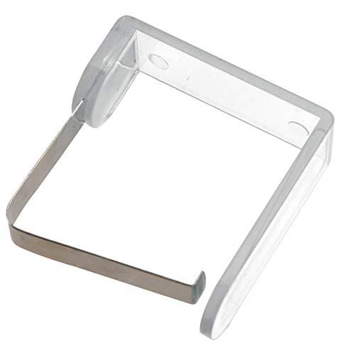 Pince à nappe transparente Transparent/métal.