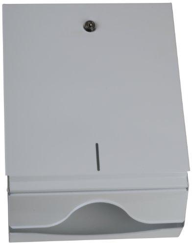 Funny Spender für ZZ/V-Falz Papierhandtücher, abschließbar metall/weiß, für 500 Tücher, 1er Pack (1 x 1 Stück)