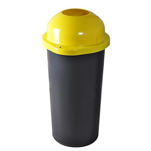 KUEFA 60L Mülleimer/Müllsackständer mit Einwurf (Gelb)