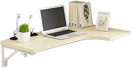 An der Wand montierter Klapptisch aus Holz Faltbarer Ecktisch Esstisch Computertisch Weißer Ahorn Farbe (Größe: 100x60x40cm)-80 x 70 x 50 cm Well