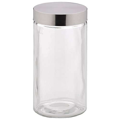 kela 17868Bera Frischhaltebox Glas/Edelstahl Transparent/Silber 11x 11x 22cm 1,7l