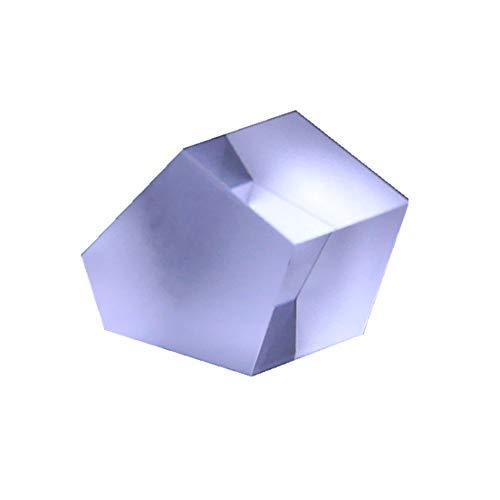 Toltec Lighting Optisches Prisma Pentaprisma rechtwinkliges Prisma Glaslinse Dekoration Lehre Wissenschaft Experiment Prisma, Refraktor Kristallprisma 50 * 50 * 40mm
