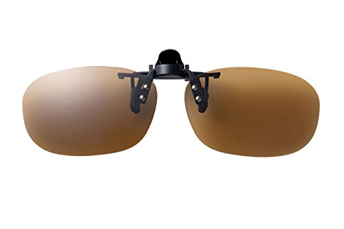 SWANS(スワンズ) 日本製 偏光 サングラス メガネにつける クリップオン 跳ね上げタイプ SCP-22 BR BR 偏光ブラウン Free Size