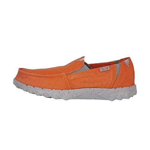Dude Shoes Herren Es Farty Gewaschen Orange UK8 / EU42