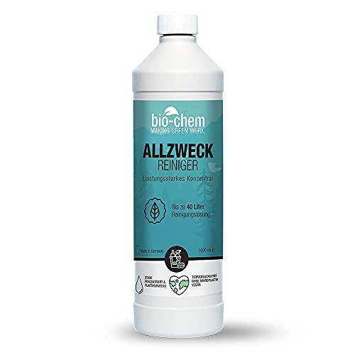 bio-chem Allzweckreiniger Konzentrat - Extrem leistungsstark für hygienische Sauberkeit - 1000 ml - Multi Clean Kraftreiniger Küchenreiniger - für den gesamten Haushalt, Küche, Bad, Wohnzimmer