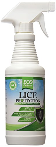 Eco Defense Lice Treatment for Home, Bedding, Belongings, and More - Safe Organic, Natural, and Non Toxic Ingredients - Works Fast to Kill & Repel Lice from Your Environment (16 oz)