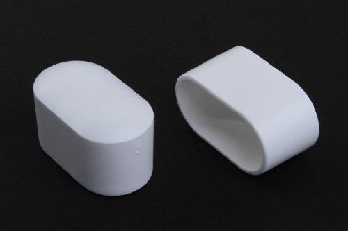 4 Stück Stuhlbeinkappe Stuhlbeinschutz Bodenschutz Stuhlschoner Kunststoff weiss 38 x 20mm, für alle Böden im Innen- und Aussenbereich