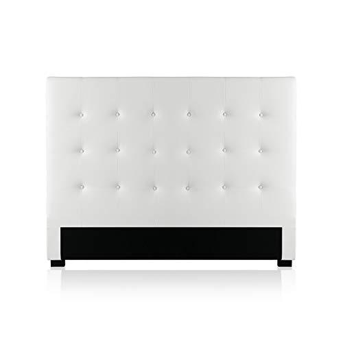 Intense Déco - Tête de lit capitonnée Premium 140cm Blanc