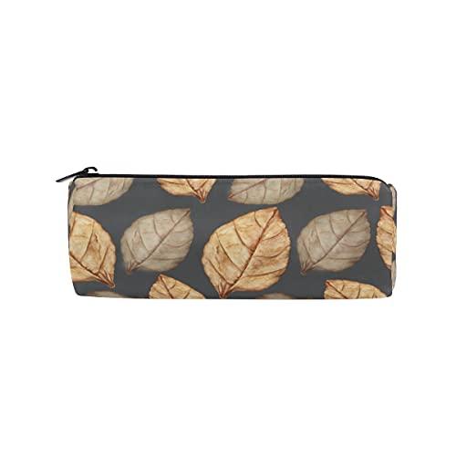 HaJie - Estuche para lápices de acuarela, diseño de hojas otoñales, con cremallera, organizador de papelería, para niñas, niños, mujeres y hombres