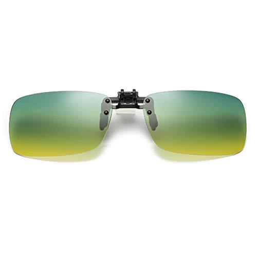 Embryform Gafas de sol Clip en lentes polarizados,Polarizadas Clip en Gafas de Sol Flip up Anteojos de Espejo Hombre Mujer