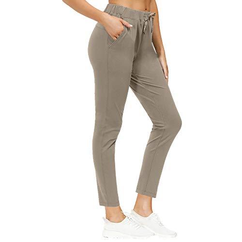 N\P Pantalones de yoga ajustados para mujer con bolsillo de cintura alta Capris Sports Running Fitness Pantalones