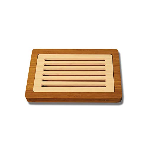 Totally Bamboo BA207601 Planche à pain avec récupérateur de miettes en bambou