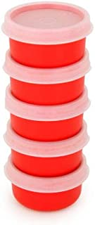 Tupperware Classic SMIDGETS 1oz Mini Bowl SET Condiments Dips Dressing NEW RED