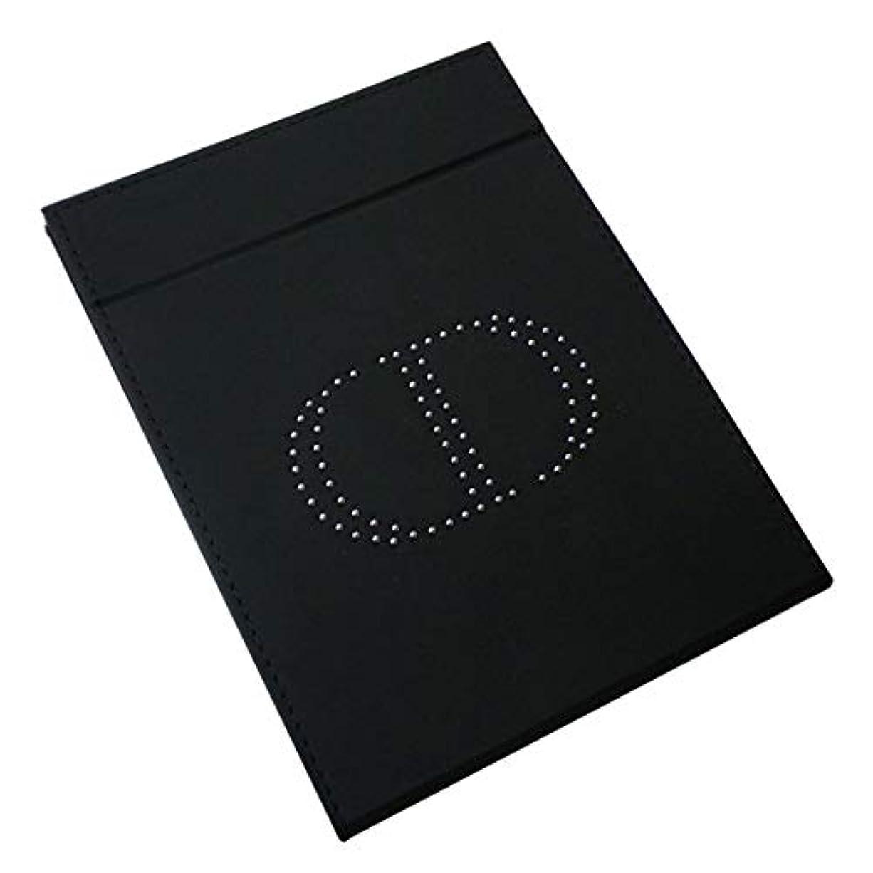 頬骨粘着性魚Dior ディオール スタンドミラー ミラー 鏡 ロゴ イブサンローラン 桃 ピンク黒 ブラック 化粧 メイク コスメ (ブラック)