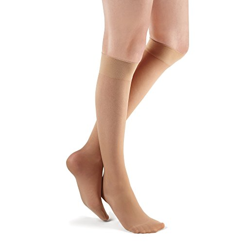 Futuro Knee Highs for Women, Moderate Compression, 15-20 mm/Hg, Helps Improve Circulation to Help Minmize Swelling