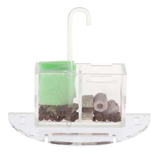 MagiDeal Pecera Caja de Filtro Externo Acuario Aumentar El Filtro de Agua de Oxígeno - tal como se describe, 18 cm