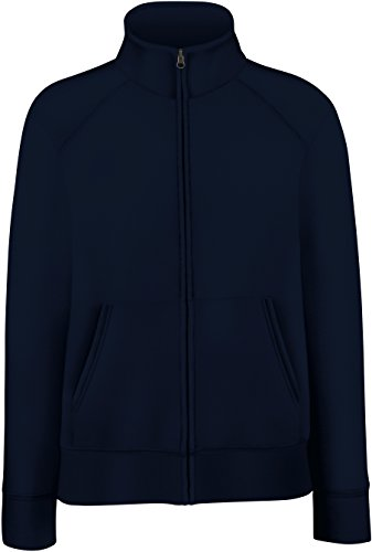 Fruit of the Loom - Lady-Fit Sweat Jacket - Modell 2013 / Deep Navy, L L,Deep Navy