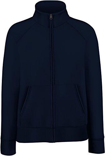 Damen Sweatjacke Stehkragen Sweatshirt Hoodie Pullover Shirt verschiedene Größe und Farben - Shirtarena Bündel M,Deep Navy
