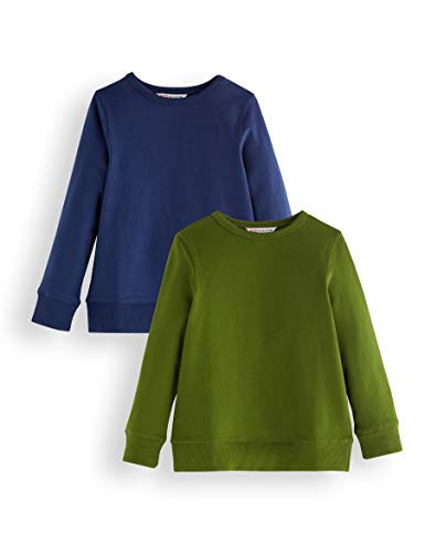 Marca Amazon - RED WAGON Sudadera Niños, Pack de 2, Multicolor (Blue & Green), 134, Label:9 Years
