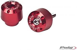 PUIG - 6820R : contrapesos Cortos Aluminio Honda Color Rojo Honda -> MSX125 (13-15) PCX 125 (10-15)