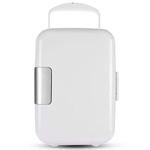 LSHOME Minikühlschrank Autokühlschrank Energiesparend Praktischer Tragegriff Geräuscharm Für Fahrzeug Mini Refrigerator 4L,Weiß