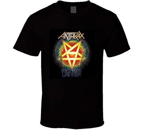 Anthrax Breathing Lightning Album T Shirt Nero Nero XXL