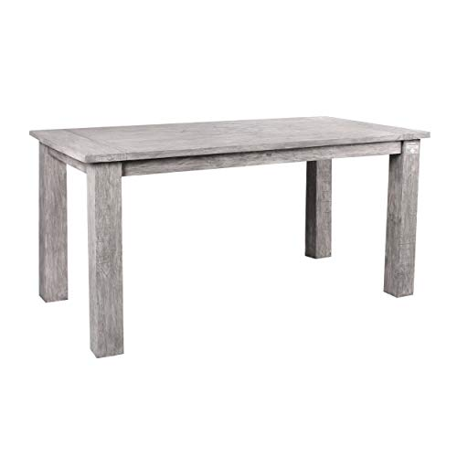 STRANDGUT07 Tisch ca. 150 x 75 x 75 cm Teakholz Gartentisch, grey wash