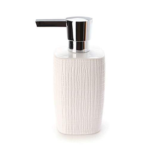 GYCS Dispensador de jabón para baño Dispensador de jabón de cerámica Blanca...