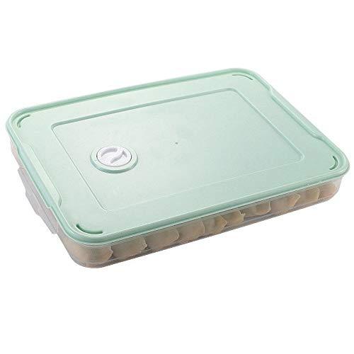 Hueveras Para Frigorifico 2 unids refrigerador caja de almacenamiento de alimentos accesorios de cocina organizador caja de masa hervidas de huevo vegetal apilable Huevera (Color : Green)
