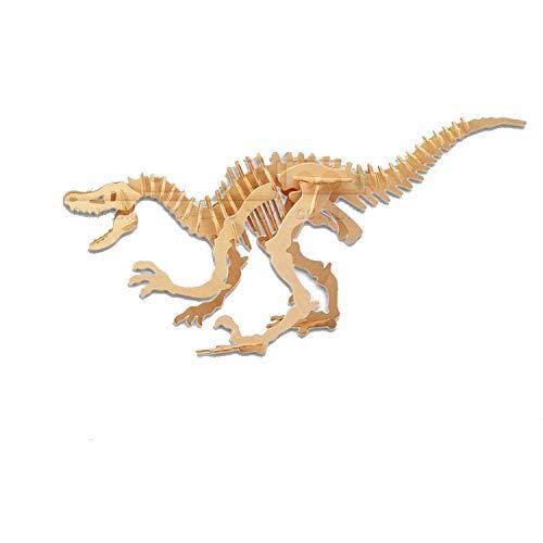 Acampar En La Playamini Rompecabezas De Madera De Dinosaurios, Juguetes Educativos De Bricolaje, Modelos Creativos De Dinosaurios-G-J004 Deinonychus