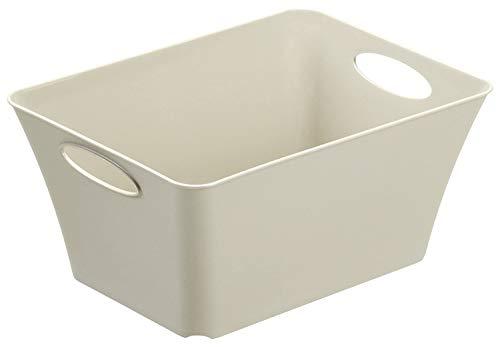 Rotho Living Aufbewahrungsbox 5l, Kunststoff (PP), Cappuccino, 5 Liter (29,5 x 21,6 x 13,5 cm)