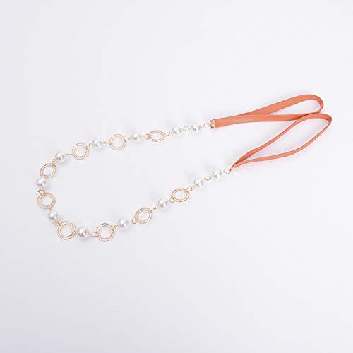 Un par de dos correas de cortina de perlas de aleación de cuero, correas de pelota colgante, ornamentos de cortina de oreja colgantes, colgantes de borla perla de correa, adecuados para artícu