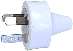 CD100/8WE 3 Pin Plug Top White Fig8 HPM - 9321001270805