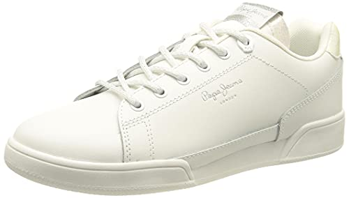 Pepe Jeans Lambert Chic, Scarpe da Ginnastica Donna, 800 Bianco, 38 EU