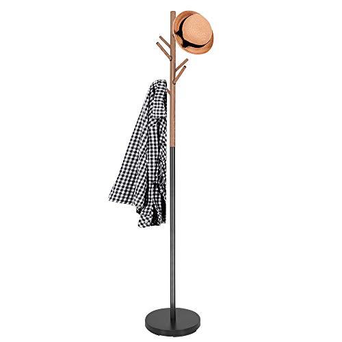 SPRINGOS Kleiderständer, Baum-Optik, mit 6 Haken, aus Metall,180 cm, freistehend, stabil, Garderobe, Garderobenständer, Kleidung, Eingangsbereich, skandinavisches Design
