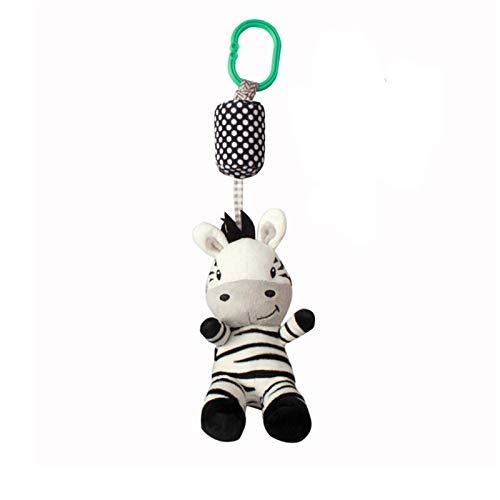 JKMQA dx Juguetes de dibujos animados lindo blanco y negro cebra bebé juguete mover bebé cama colgante con campana iluminación juguete Best Sellig (color : cebra)