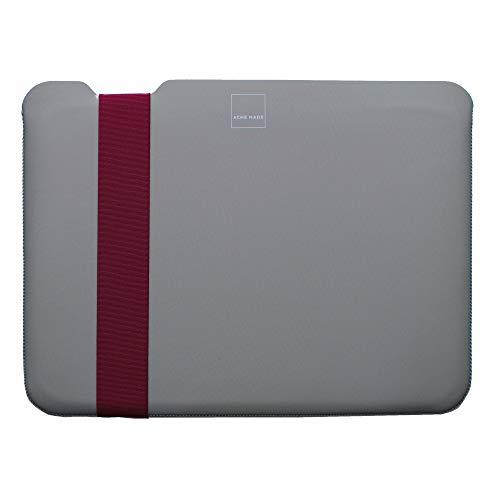 Acme Made Skinny Sleeve M, Ultra-dünne Notebookhülle, 13-14 Zoll, Neopren, grau/fuchsia