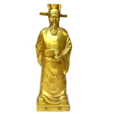 GOHHK Chinesischen Stil Öffnen Reinem Kupfer Bao Zheng Bronze Statue Baogong Bronze Statue Eisen Nouveau Tasche Qingtian bösen Geistern stadthaus Feng Shui büro Dekoration Home Office Dekoration