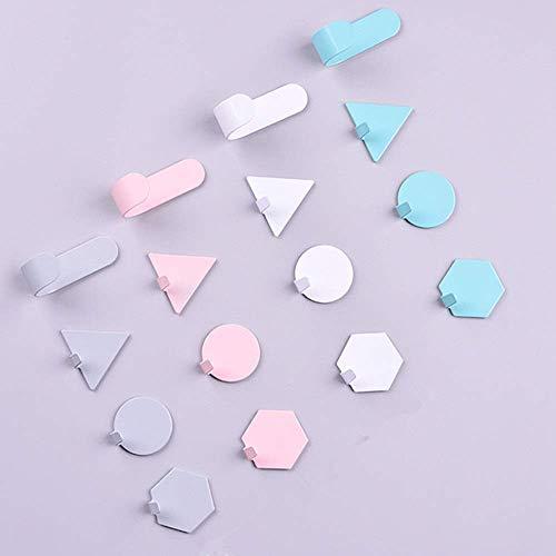 8bayfa, wandhaken van roestvrij staal, voor badkamer, keuken, robuust, zelfklevend, voor wandmontage, kleur: wit, formaat: vrijformaat