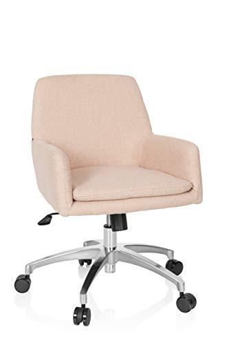 hjh OFFICE 670958 silla de escritorio SHAKE 400 tela beige silla giratoria juvenil estilo retro