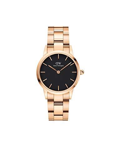 Daniel Wellington Iconic Link, Reloj Oro Rosado, 28mm, Acero Inoxidable, para Mujer