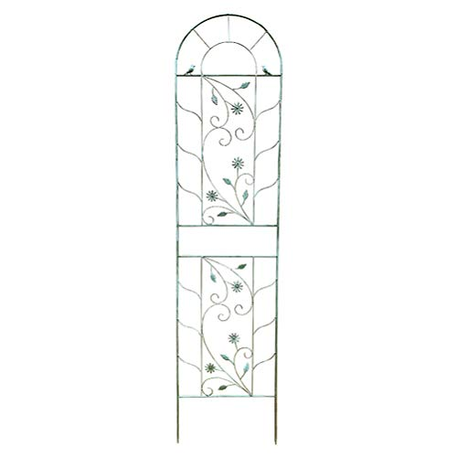 Metal Trellis Support Archway Roses 2.1m Garden Planter with Topped Trellis Climbing Plants Flower Raised Bed Weather-Proof Easy Installation