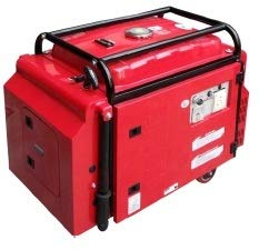 power on 5kva Silent Petrol Portable Generator (Red)
