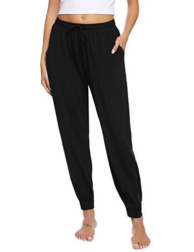 Hawiton Women's Cotton Jogger Lounge Sleeping Sweatpants Pajamas Bottoms with Pockets