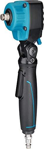 """HAZET abgewinkelter Druckluft-Schlagschrauber (1/2""""-Vierkantabtrieb, max. Lösemoment: 550 Nm, Verstellbarer Auslöser, um 120° schwenkbarer Kopf, Länge: 277 mm, Kopflänge: 70 mm) 9012ATT, schwarz-blau"""