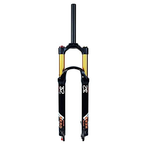 MGRH Bicicleta MTB Horquilla Suspensión De 26/27.5/29 Pulgadas, Tubo Recto 1-1/8' Amortiguador Montaña Horquillas Aire Viaje 120mm Straight.a-29 Inch