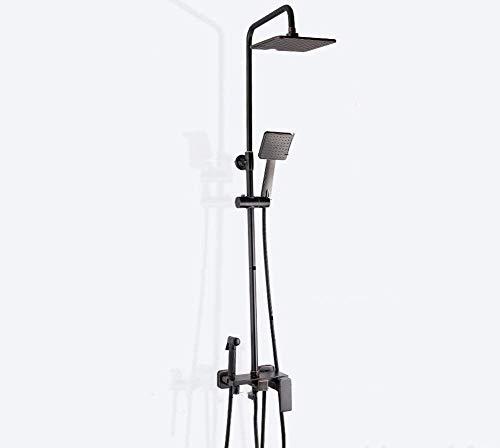 ZGQA-GQA Baño juego de ducha doble cabezal de ducha de lluvia conjunto mezclador de la ducha con la ducha principal de cobre de mezclador del grifo del montaje del techo de montaje en pared, de 10 pul